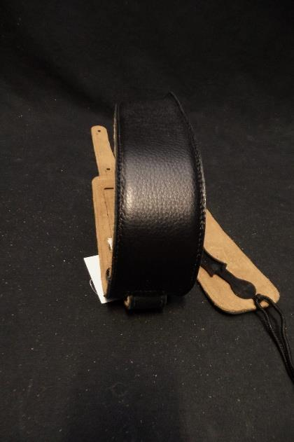 Levy's Leather DM1SG-BLK 2.5 Standard Garment Guitar Strap Black