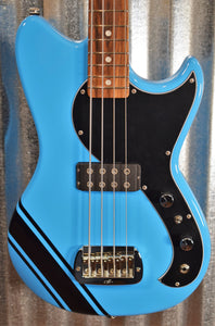 G&L USA Fullerton Limited Edition Fallout Bass Miami Blue 4 String Short Scale & Gig Bag #0169