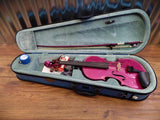 Stentor Harlequin Series 1/2 Violin Pink with Bow & Case #1022 *