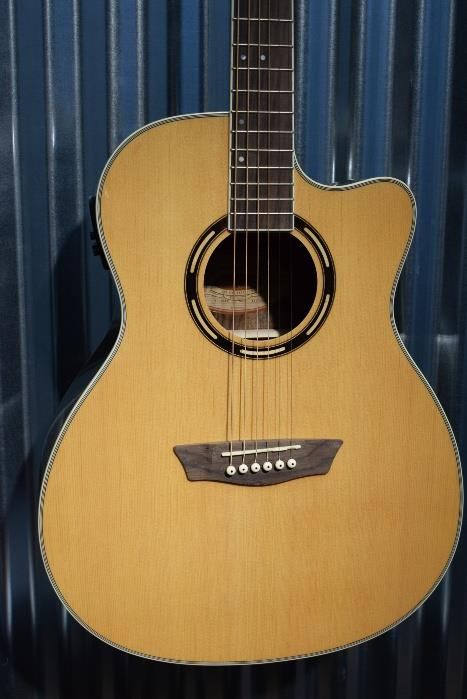 Washburn Guitars AG20CE Natural Solid Spruce Acoustic Electric Guitar & Case #76