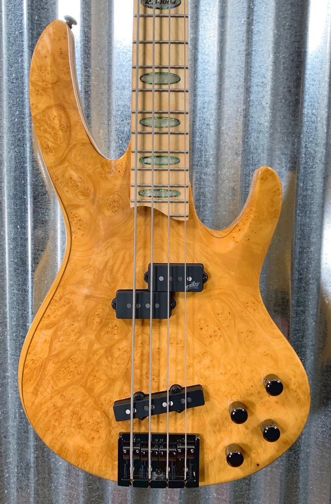 ESP LTD RB-1004 Burl Maple Honey Natural  4 String Bass LRB1004BMHN #1143