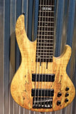 ESP LTD B-206 6 String Bass Spalted Maple Top Natural Satin & Bag #1280