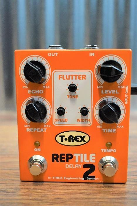T-Rex Reptile 2 Delay Analog Tape Echo Simulator Guitar Effect Pedal Used #1657