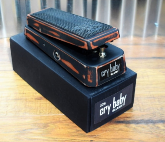 Dunlop SC95 Slash Cry Baby Classic Wah Guitar Effect Pedal Distressed Finish