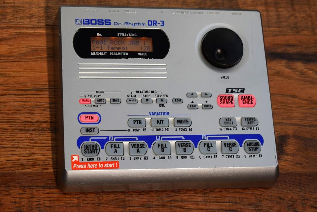 Boss DR-3 Dr. Rythm Programmable Drum Machine and Bass Synth