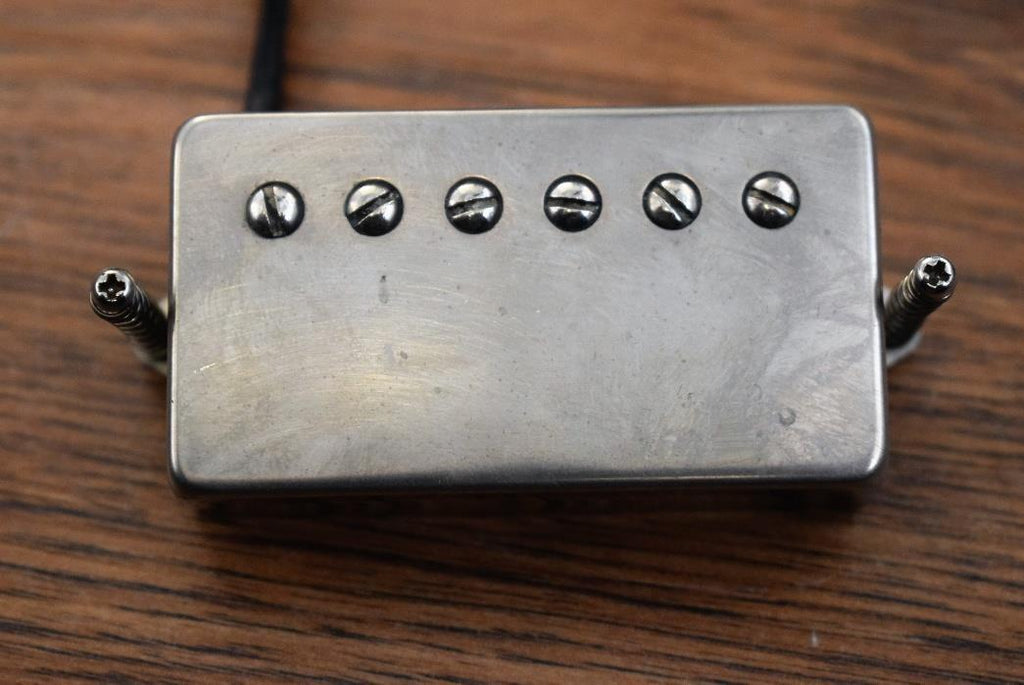 Dimarzio PAF DP103N8 36th Anniv Worn Nickel Cover Humbucker Neck Guitar Pickup Used