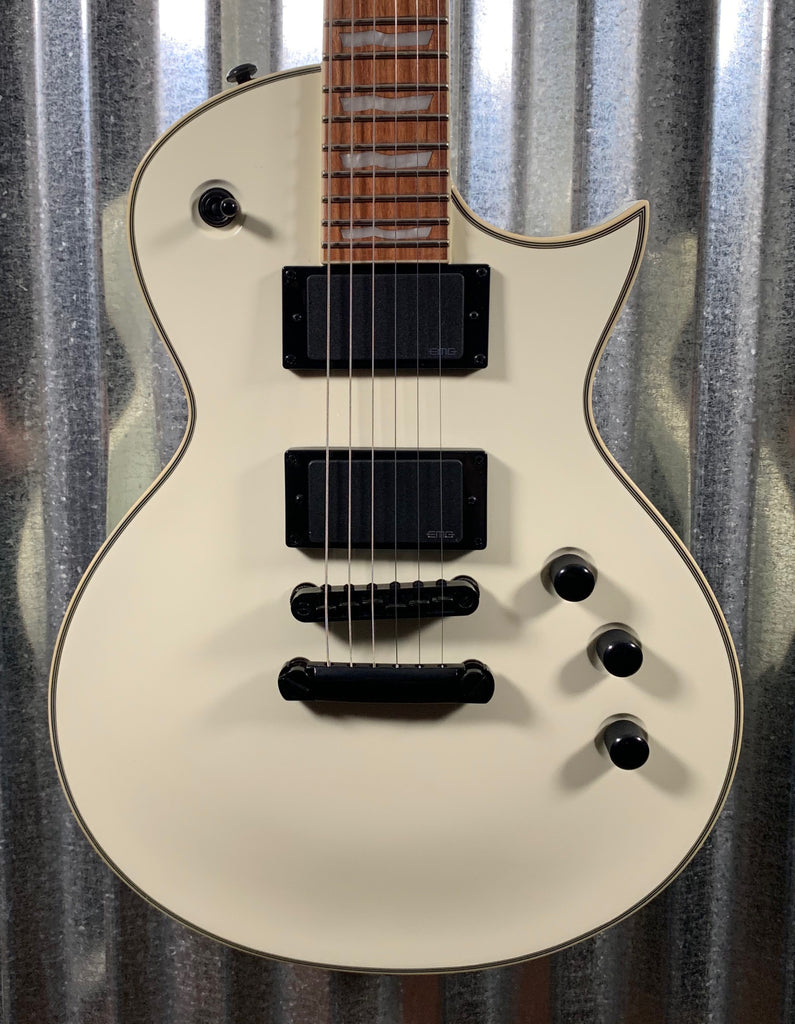 ESP LTD EC-401 Olympic White EMG Guitar & Bag LEC401OW #0554 Demo
