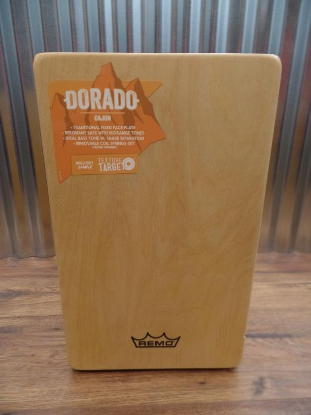 Remo CJ-6220-A1 Dorado Cajon with Natural Face Plate & Amber Body #5001 *