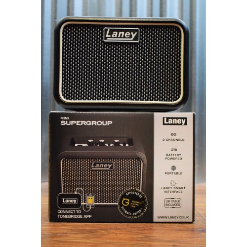 Laney Mini SuperGroup Battery Powered Portable Guitar Combo Amplifier MINI-SUPERG Demo