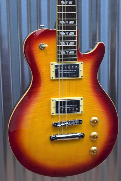 Hamer The Monaco Single Cut Cherry Sunburst Electric Guitar & Gig Bag #195