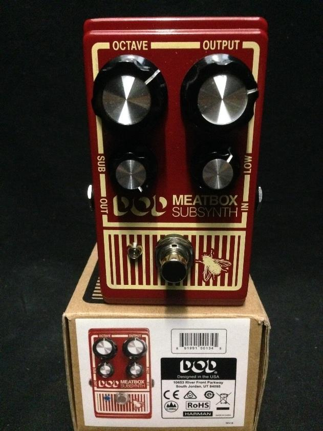 DOD Meatbox Octave Sub Synth Bass Tone Generator Guitar Effect Pedal