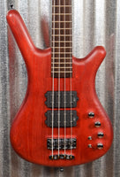 Warwick German Pro Series Corvette $$ Double Buck Burgundy 4 String Bass & Bag #3819