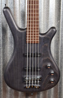 Warwick German Pro Series Corvette Standard Nirvana Black 5 String Bass & Bag #8919