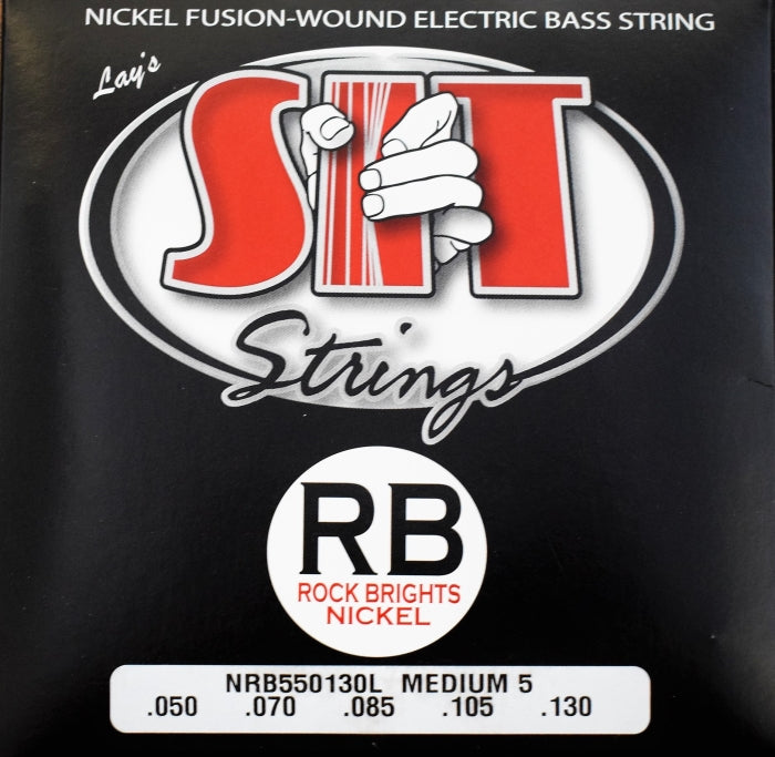 SIT Strings Rock Bright 5 String Bass Nickel Medium 50-130 Set NRB550130L