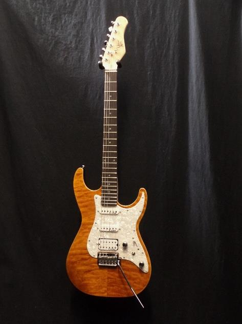 Michael Kelly 1965 Amber Electric Guitar Rockfield Pickups & Gig Bag #0071