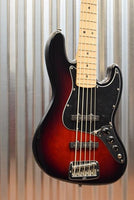 G&L Guitars USA JB-5 5 String Jazz Bass JB Redburst & Case 2016 #8152