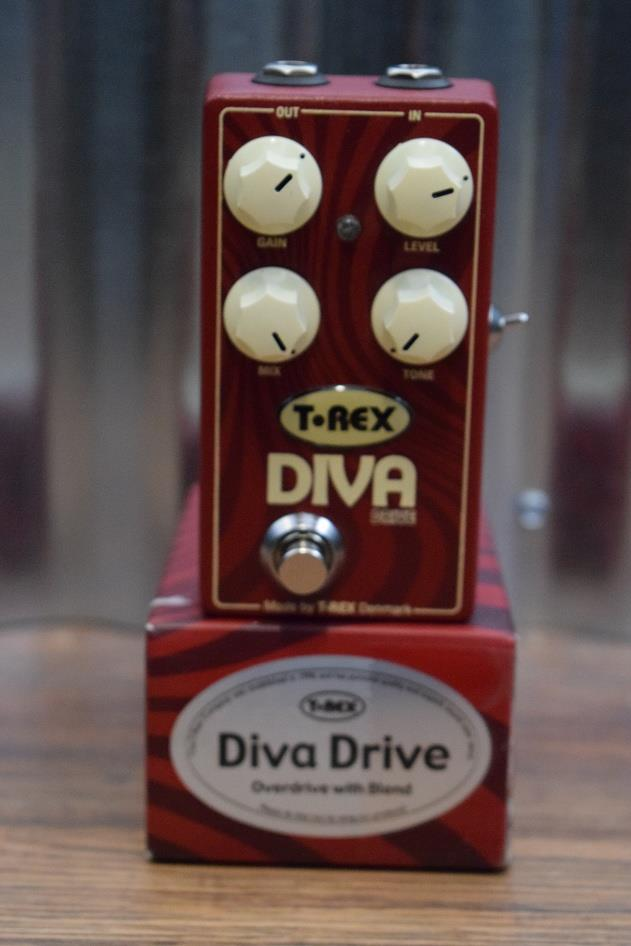 T-Rex Engineering Diva Drive Overdrive With Blend Guitar Effect Pedal Demo #496