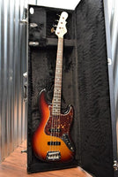 G&L Guitars USA JB 3 Tone Sunburst 4 String Jazz Bass & Case Factory Demo #6413