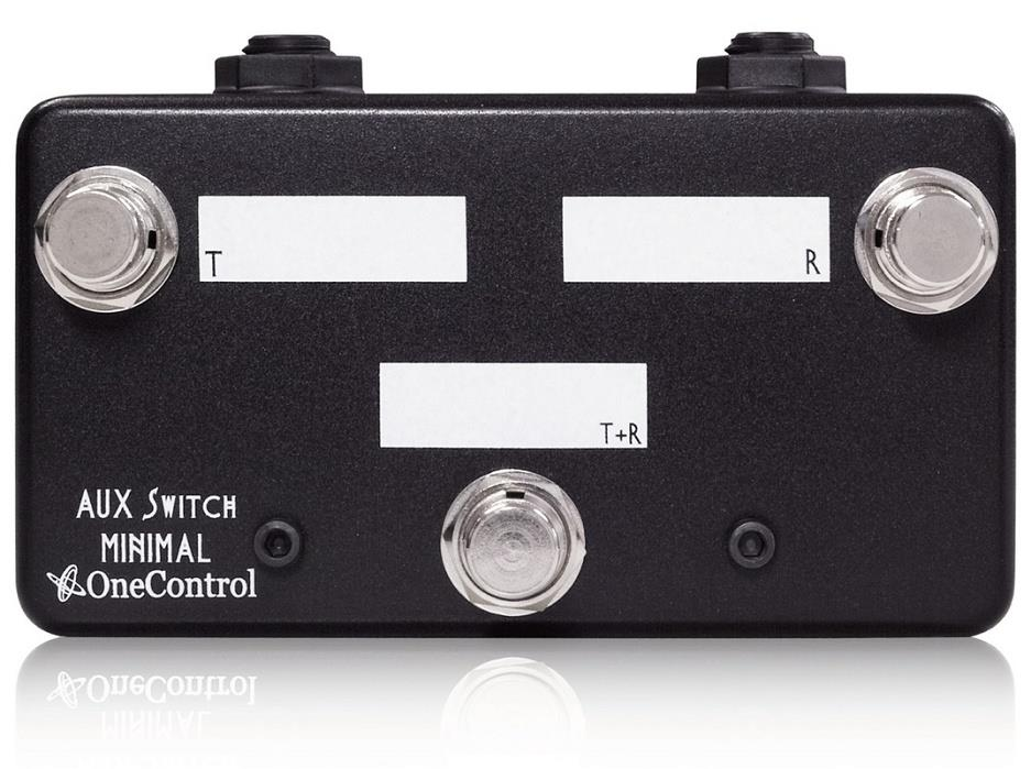 One Control AUX SWITCH Remote Control Guitar Amp or Effect 3 Button Foot Switch Pedal