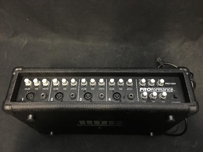 ProFormance PRO100H 4 Channel Powered Mixer PRO100 *