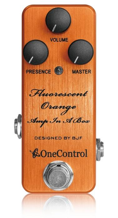 One Control BJF Fluorescent Orange Amp in a Box Distrotion Guitar Effect Pedal