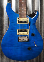 PRS Paul Reed Smith SE Custom 24 Sapphire Black Back Guitar & Bag #6344