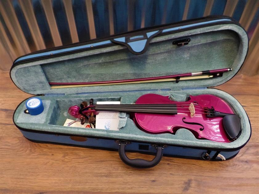 Stentor Harlequin Series 1/2 Violin Pink with Bow & Case #1023 *