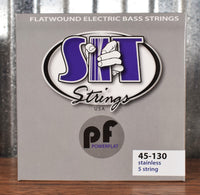 SIT Strings Power Flat PF545130L 5 String Flat Wound Stainless Steel Bass Set 45-130