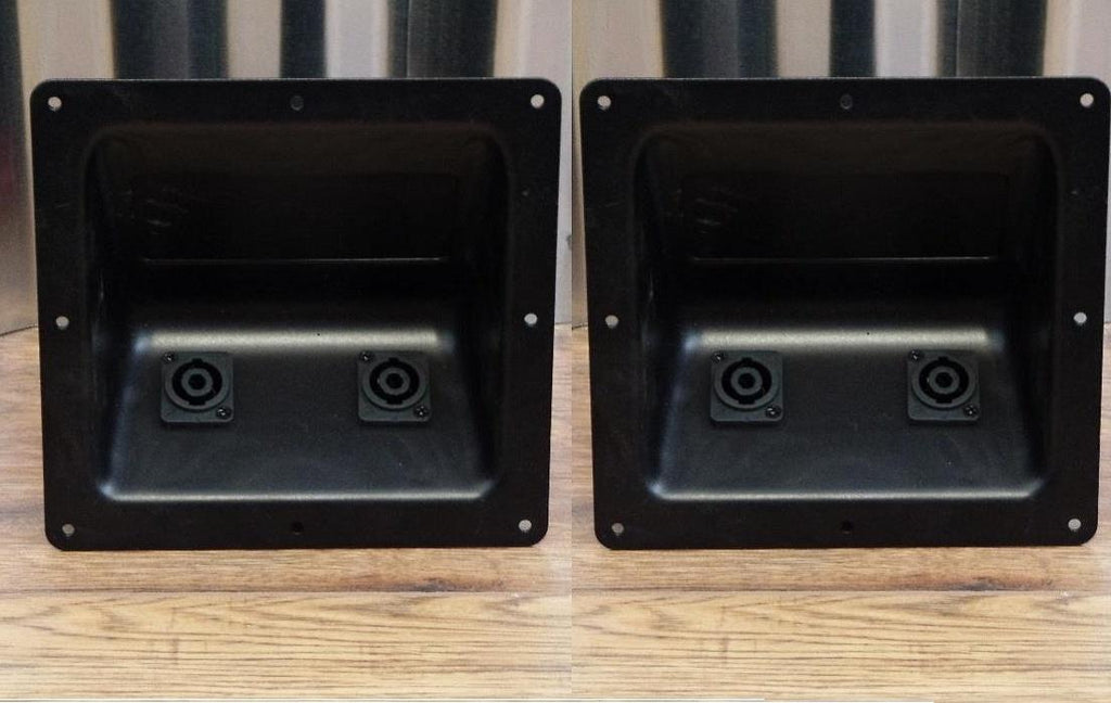 Wharfedale Pro Dual Speakon Wired Speaker Input Jack Plate Set of 2  Part #993