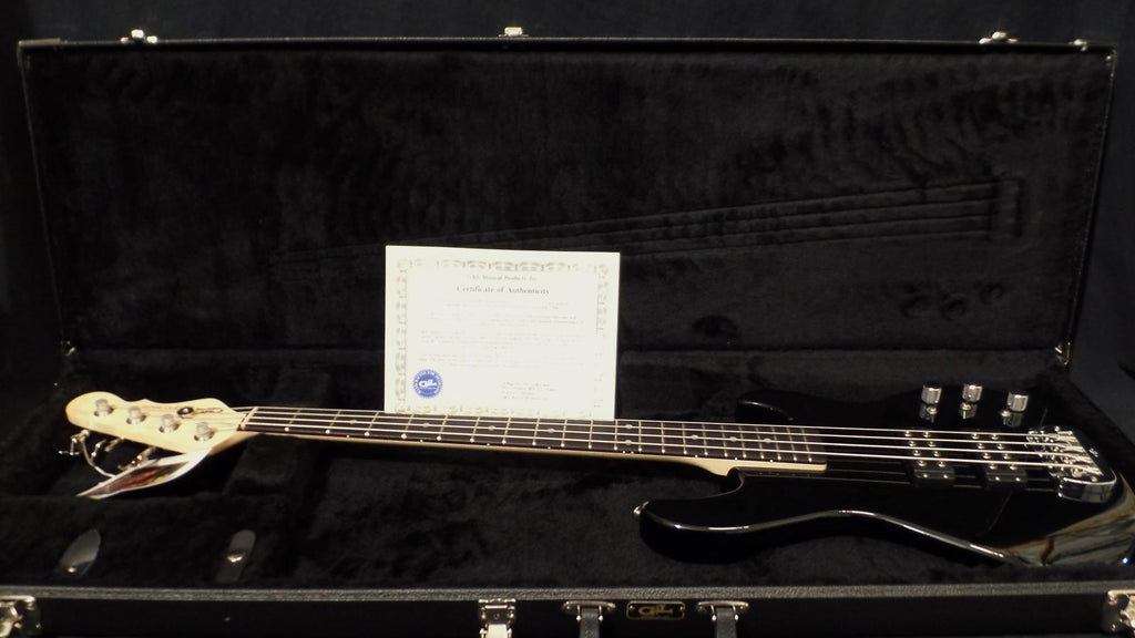 G&L USA L2000 4 String Black MFD L Series Humbuckers Hard Case NOS L-2000 #2841