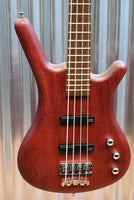 Warwick German Pro Series Corvette Ash Passive 4 String Red Oil & Bag #4917