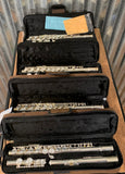Eldon by Antigua ELF220 C Closed Hole Student Flute & Case Bundle 4 Pack Used
