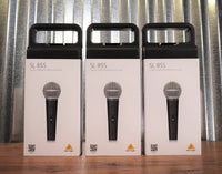 Behringer SL85S Dynamic Cardioid Handheld Vocal Microphone with On/Off Switch 3 Pack Bundle