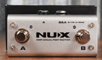 NUX NMP-2 Dual Button Footswitch Controller Latch or Momentary Guitar Effect Pedal