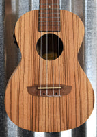 Ortega Guitars Friends Series RFU11ZE Zebrawood Acoustic Electric Concert Ukulele & Bag