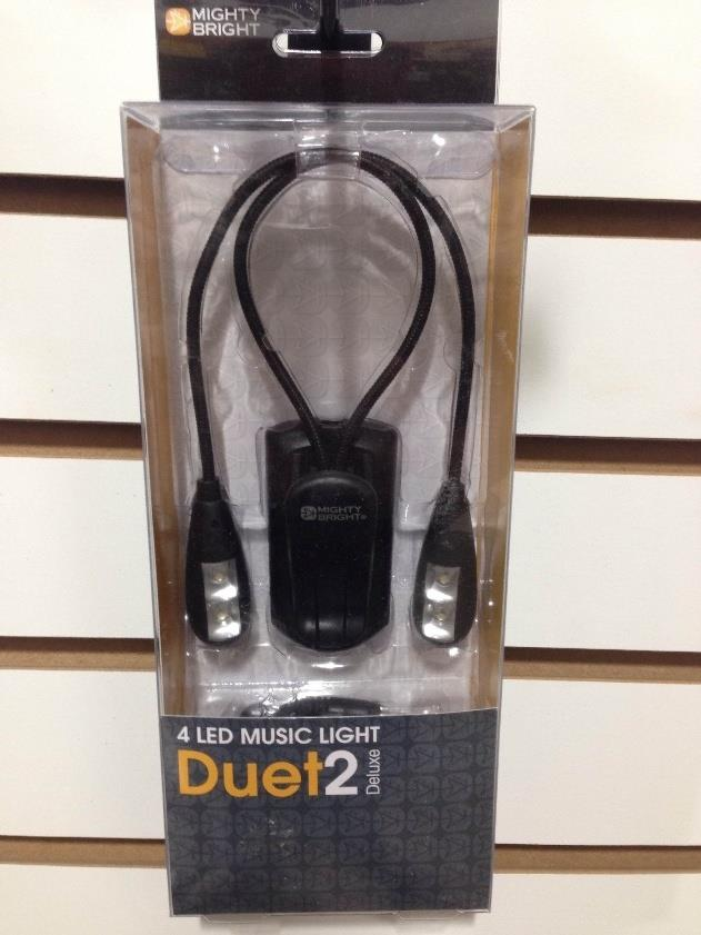 Mighty Bright Duet2 Deluxe LED Music Reading Light Black *