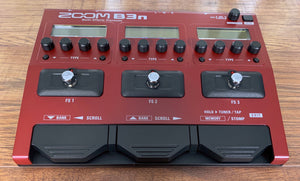 Zoom B3n Programmable Multi-Effect Bass Guitar Effect Pedal Demo