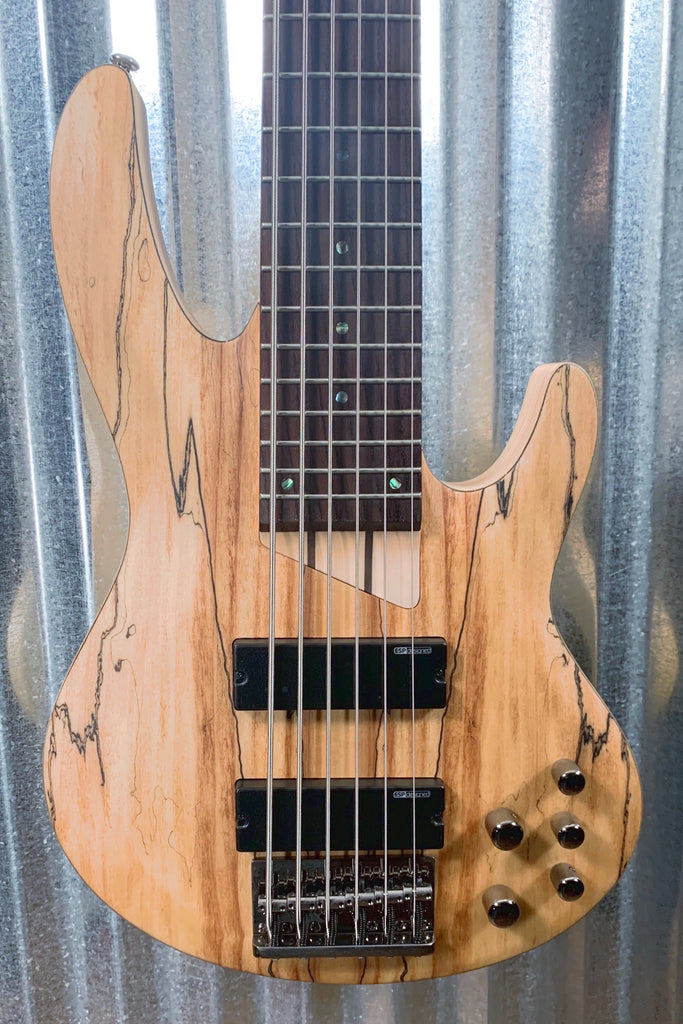 ESP LTD B-206 Spalted Maple 6 String Bass & Case LB206SMNS #0035 Demo