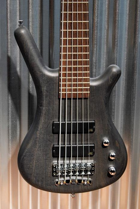 Warwick German Pro Series Corvette 6 String Bass Nirvana Black Ash & Bag #8215