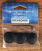 Warwick Rockboard StomPete Guitar Effect Pedal Footswitch Topper Black Set of 3