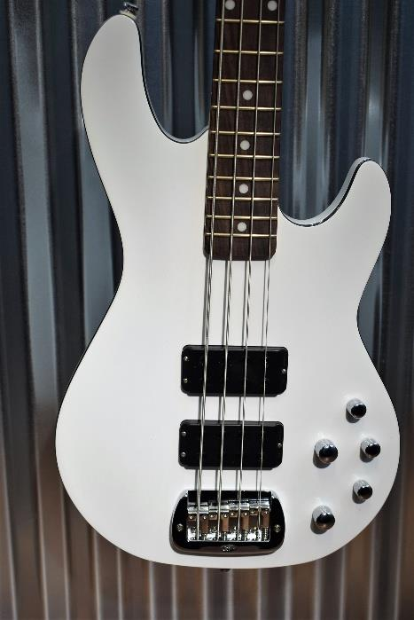 G&L Tribute M-2000 GTB 4 String Carved Top Gloss White Bass  M2000 #7564