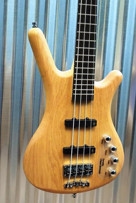 Warwick RockBass Corvette Basic Active 4 String Bass Natural & Case #5616