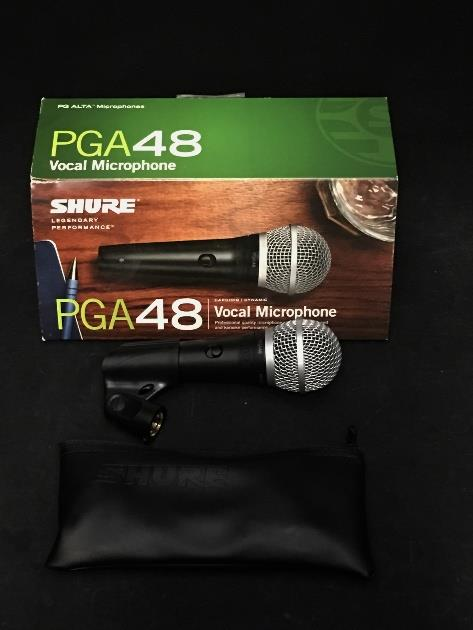 Shure PGA48-LC Cardioid Dynamic Vocal Microphone *