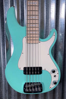 G&L USA Fullerton Custom Kiloton 5 Surf Green 5 String Bass & Case 2018 #1053