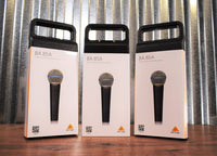 Behringer BA85A Dynamic Super Cardioid Handheld Vocal Microphone 3 Pack Bundle