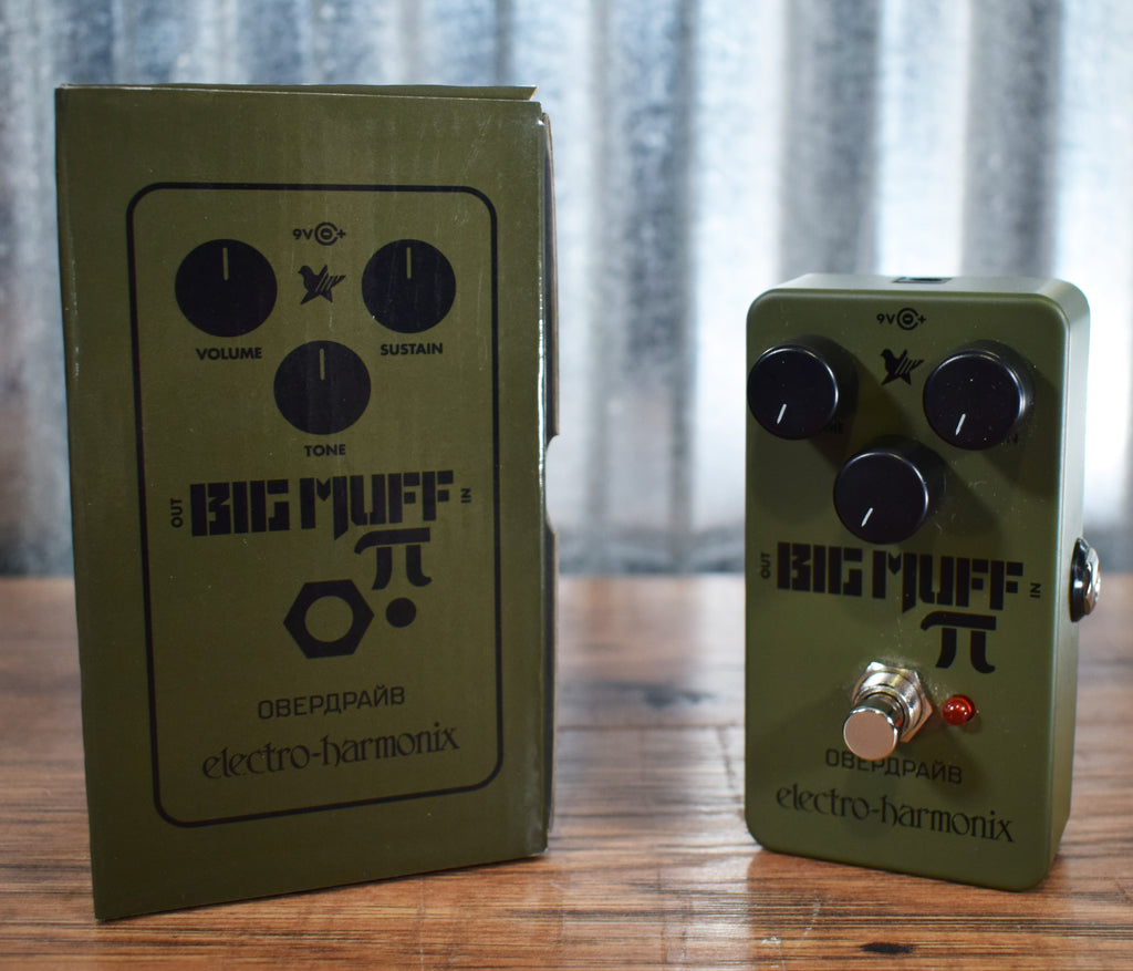 Electro-Harmonix EHX Green Russian Big Muff Distortion Sustainer Guitar & Bass Effect Pedal Used