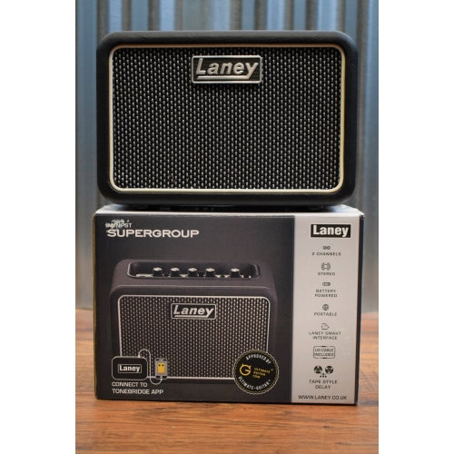 Laney Mini ST SuperG SuperGroup Battery Powered Portable Stereo Guitar Combo Amplifier