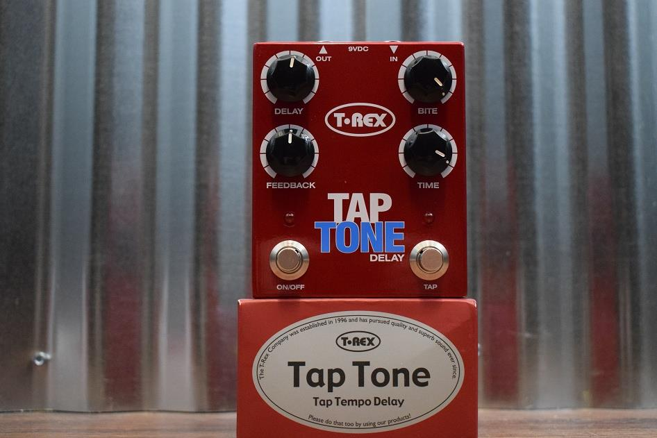 T-Rex Engineering Tap Tone Tap Tempo Delay Guitar Effects Pedal Demo #903