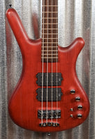 Warwick German Pro Series Corvette $$ Double Buck Burgundy 4 String Bass & Bag #3519
