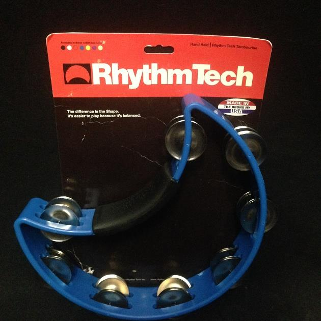 Rhythm Tech RT1040 Tambourine, Nickel Jingles, Blue